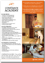 Constance Academy - Housekeeping poster 2007