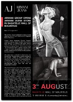 Armani Jeans Bagatelle Opening advert 2012